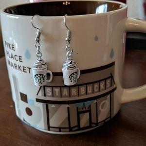 Starbucks drop earrings